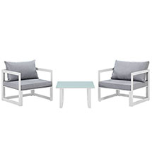 Fortuna 3 Piece Outdoor Patio Sectional Sofa Set