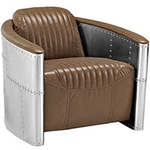 Visibility Upholstered Vinyl Lounge Chair