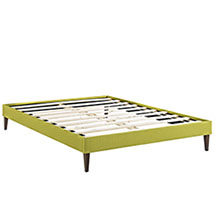Sharon Queen Fabric Bed Frame with Squared Tapered Legs