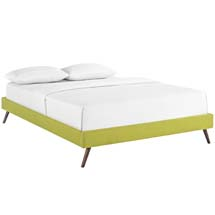 Helen Full Fabric Bed Frame with Round Splayed Legs