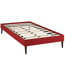 Sherry Twin Fabric Bed Frame with Round Tapered Legs