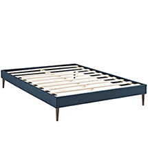 Sherry Full Fabric Bed Frame with Round Tapered Legs